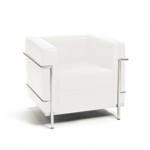 Lc2 fauteuil corbusier cream
