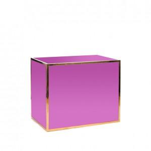 Avenue 4' bar gold purple plexi