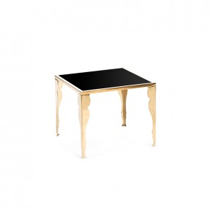 astaire table gold black plexi