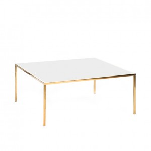 carlton table gold white plexi