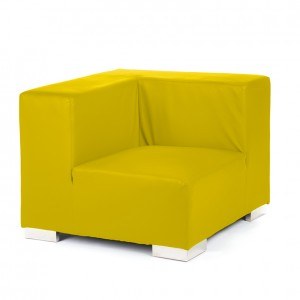 mondrian corner lemon yellow