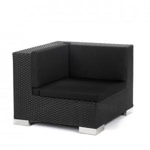 savoy corner black black cushions