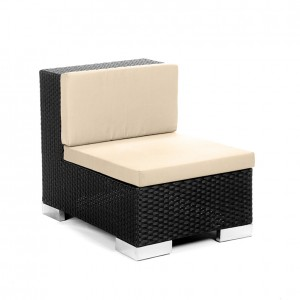 savoy middle black creme cushion