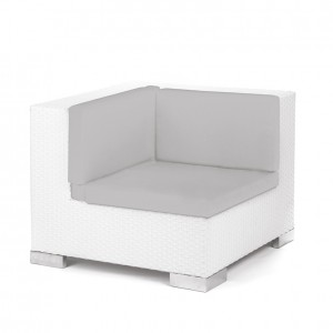 Savoy Corner White - grey cushion