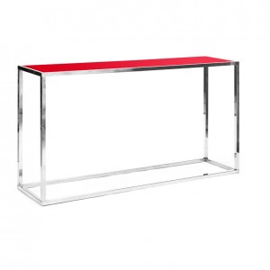 clift communal table red plexi