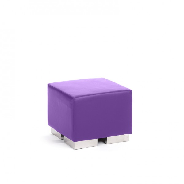 cube square ottoman violet
