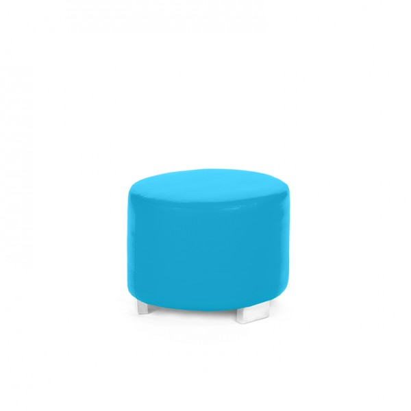 dot round ottoman blue cyan