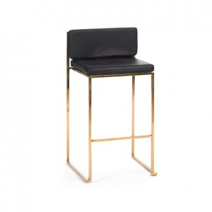 paramount stool gold black cushion