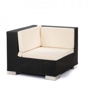 savoy corner black creme cushions