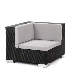 savoy corner black grey cushions
