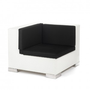 savoy corner white black cushions