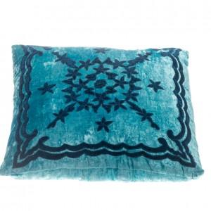 Pillow - Velvet Pattern - Blue Square