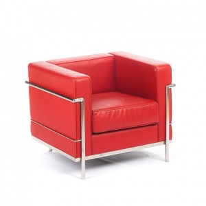 Lc2 fauteuil corbusier red