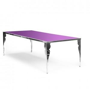 bogart table purple plexi