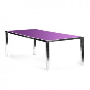 metropolitan dining purple plexi