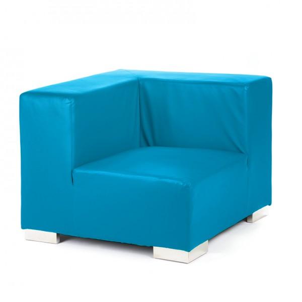 mondrian corner cyan blue