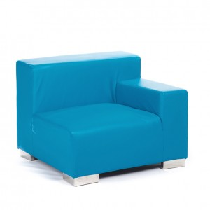 mondrian end sitting left cyan blue