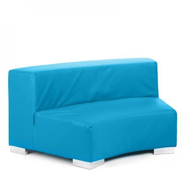 mondrian round cyan blue