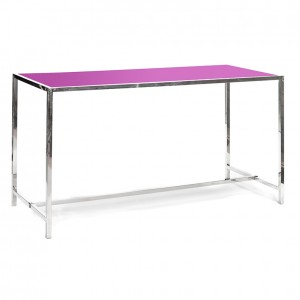 rivington table purple plexi