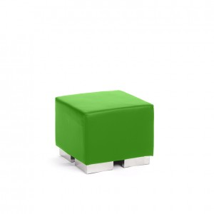 cube square ottoman lime