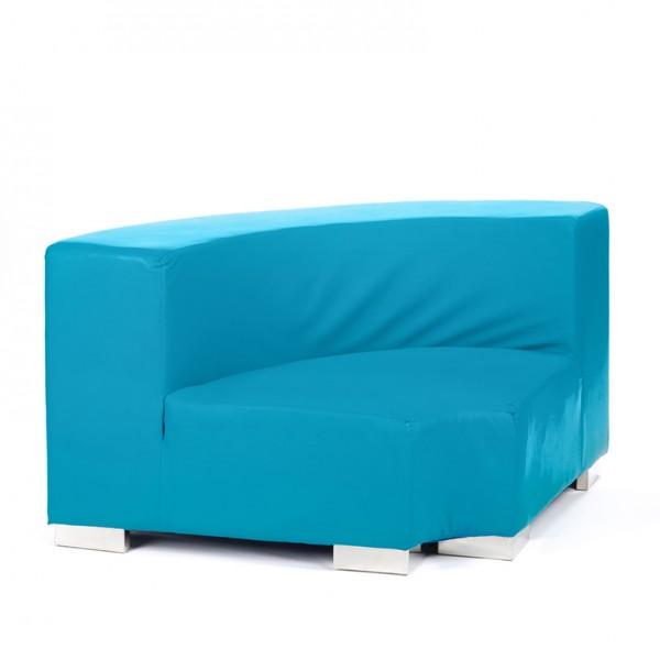 mondrian corner inside cyan blue