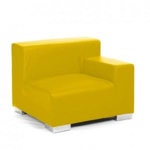 mondrian end sitting left lemon yellow