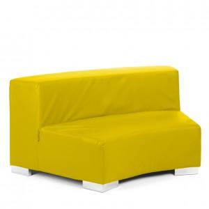 mondrian round lemon yellow