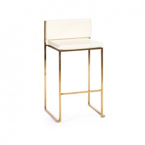 paramount stool gold creme cushion