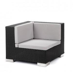 savoy corner black grey cushions