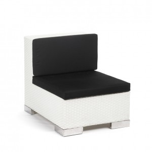 savoy middle white black cushion